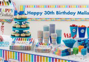Party City Birthday Decoration Rainbow Chevron Supplies Adult