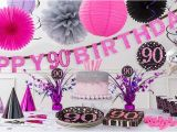 Party Decorations for 90th Birthday Pink Sparkling Celebration 90th Birthday Party Supplies