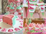 Party Favor Ideas for 1st Birthday Girl Kara 39 S Party Ideas Watermelon Fruit Summer Girl 1st