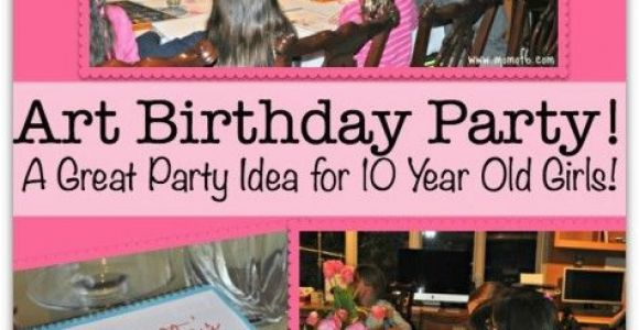 Party Ideas for 10 Year Old Birthday Girl Art Birthday Party A Great Party Idea for 10 Year Old