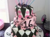 Party themes for 16th Birthday Girl 16 Best Images About Sweet 16 Cakes On Pinterest Pink