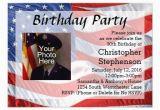Patriotic Birthday Invitations Flag Photo Patriotic Birthday Party Invitation Zazzle