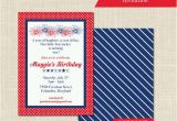 Patriotic Birthday Invitations Patriotic Birthday Invitation 1st Birthday Red White and
