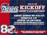 Patriots Birthday Party Invitations 4 95 New England Patriots Birthday Invitation Football