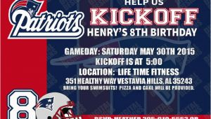 Patriots Birthday Party Invitations 4 95 New England Patriots Birthday Invitation Football