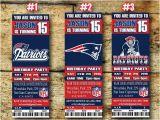 Patriots Birthday Party Invitations New England Patriots Birthday Invitation by Sportfundigital