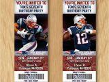 Patriots Birthday Party Invitations New England Patriots Birthday Invitation Football Ticket