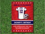 Patriots Birthday Party Invitations New England Patriots Birthday Invitation Nfl Digital Jpg