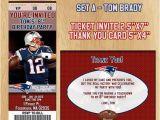 Patriots Birthday Party Invitations New England Patriots Birthday Party Invitation and Thank You