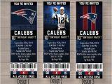 Patriots Birthday Party Invitations New England Patriots Custom Party Ticket Invitations