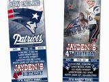 Patriots Birthday Party Invitations New England Patriots Ticket Birthday Party Invitations