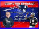Patriots Birthday Party Invitations Nfl New England Patriots Birthday Invitation Kustom