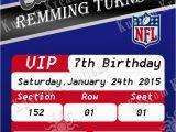Patriots Birthday Party Invitations Nfl New England Patriots Ticket Birthday Invitation