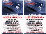 Patriots Birthday Party Invitations Printable Birthday Party Invitation Card New England Patriots