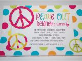 Peace Sign Birthday Decorations Baby Face Design Peace Sign Birthday Party Invitaiton