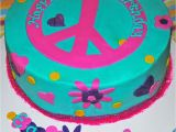 Peace Sign Birthday Decorations Peace Sign Birthday Cakes Birthday Cake Cake Ideas by
