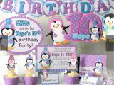 Penguin Birthday Decorations Penguin Birthday Party Supplies or Penguin Baby Shower