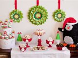 Penguin Birthday Decorations Penguin Christmas Party 9 Christmas Dessert Table Ideas