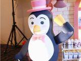 Penguin Decorations for Birthday Party Kara 39 S Party Ideas Mary Poppins themed Birthday Party