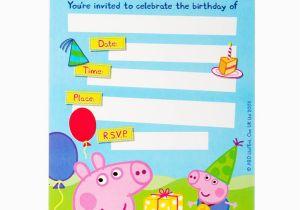 Peppa Pig Birthday Invites Free Printable Invitation