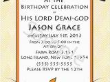 Percy Jackson Birthday Card Demi God Percy Jackson Inspired Greek God Half Blood themed