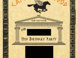 Percy Jackson Birthday Card Percy Jackson Invite