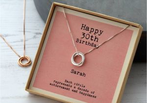 Perfect 30th Birthday Gift For Her Sterling Silver Happy Necklace By Attic