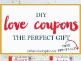 Perfect Birthday Present for Him Free Printable Love Coupons the Perfect Gift Diy