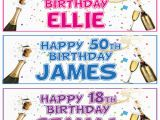 Personalised 18th Birthday Decorations 2 Personalised Birthday Banners 18th 21st 30th 40th 50th