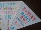 Personalised 18th Birthday Decorations Personalised Adult Birthday Party Bunting Banner 16th 18th