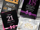 Personalised 18th Birthday Decorations Personalised Birthday Invitations Party Invites 18th