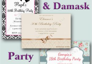 Personalised 18th Birthday Decorations Invites 21st 30th 40th 50th 60th
