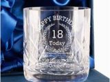 Personalised 18th Birthday Presents for Him Personalised 18th Birthday Whisky Glass for Him 18th