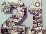 Personalised 21st Birthday Gifts for Boyfriend Double Digit Custom athlete Photo Collages On by
