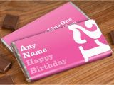 Personalised 21st Birthday Gifts for Her Personalised Chocolate Bar 21st Birthday for Her