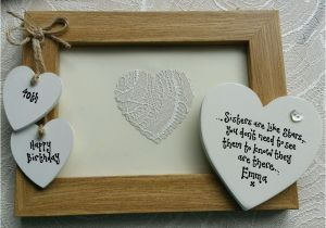 Personalised 21st Birthday Gifts For Her Sister Photo Frame Gift 30th 40th