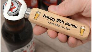 Personalised 21st Birthday Presents for Him Personalised 18th 21st 30th 40th Birthday Bottle Opener