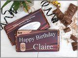 Personalised 21st Birthday Presents for Him Personalised Happy Birthday 114g Galaxy Milk Chocolate Bar