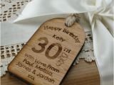 Personalised 30th Birthday Gifts for Her Personalised 30th Birthday Gift Tag Unusual Engraved