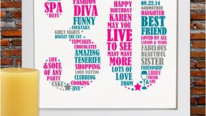 Personalised 30th Birthday Gifts for Her Personalized Birthday Gift 30th Birthday 30th by Blingprints