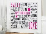 Personalised 30th Birthday Gifts for Him Personalised 30th Birthday Gifts for Her Chatterbox Walls