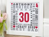 Personalised 30th Birthday Gifts for Him Uk 30th Birthday Gifts Present Ideas for Men Chatterbox Walls