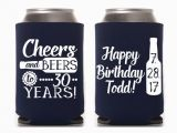 Personalised 30th Birthday Ideas for Him Birthday Can Cooler Happy 30th Birthday Custom Birthday