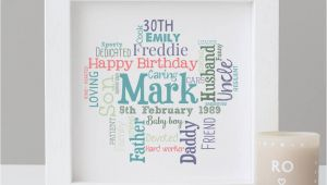 Personalised 30th Birthday Presents for Him Personalised 30th Birthday Gift for Him by Hope and Love