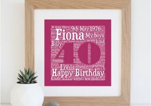 Personalised 40th Birthday Gifts for Her Personalised 40th Birthday Gift Printable 40th by  sc 1 st  BirthdayBuzz & Personalised 40th Birthday Gifts for Her 40th Birthday Gift ...