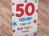 Personalised 50th Birthday Cards for Her Personalised 50th Birthday Card 50 today From 99p