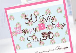 Personalised 50th Birthday Cards For Her 50th Birthday Card
