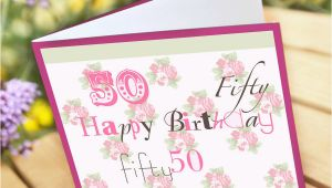Personalised 50th Birthday Cards For Her