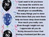 Personalised 50th Birthday Gifts for Husband Fridge Magnet Personalised Husband Poem 50th