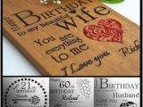 Personalised 50th Birthday Gifts for Husband Personalised Birthday Card 21 30th 40th 50th 60th Gift for